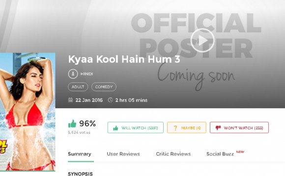 Kyaa Kool Hain Hum 3 2016 Full