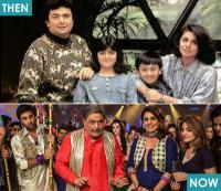 2) Ranbir Kapoor captured with his dad Rishi Kapoor, mom Neetu Singh and sister Riddhima Kapoor.