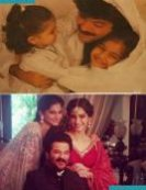 6) Sonam Kapoor with dad Anil Kapoor and Sister Rhea Kapoor.