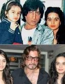8) Shraddha Kapoor pictured with dad Shakti Kapoor and mom Shivangi Kapoor.