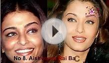 Top 30 Bollywood Actress Makeup And without makeup